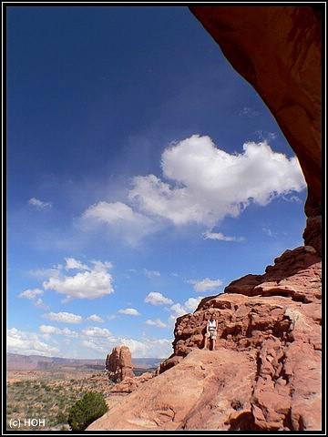 Das North Window im Arches National Park