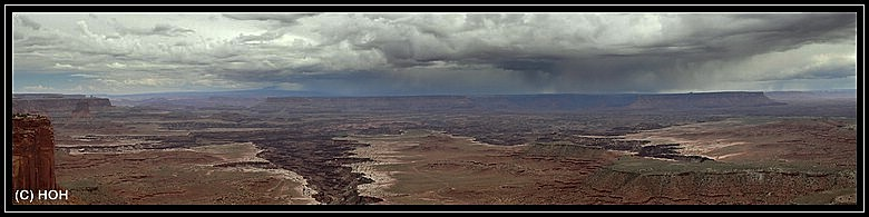 Das Wetter ist recht dramatisch heute im Canyonlands National Park