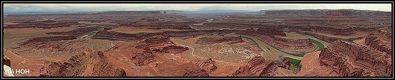 Dead Horse Point - Panorama von einem der Aussichtspunkte