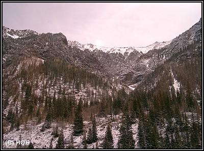 Colorado Ski-Area auf dem Weg von Moab nach Denver