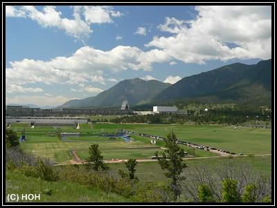 Das Gelände der US Air Force Academy