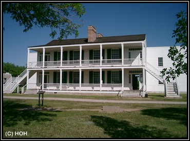 Altes Gebaeude in Fort Laramie