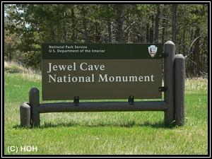 Jewel Cave Schild