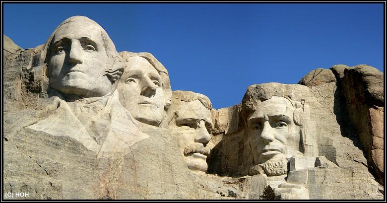 Pilgerstätte für viele US Amerikaner und so manchen Touristen im Mittleren Westen, Mount Rushmore